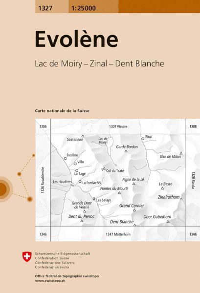 1327 Evolene topographische Wanderkarte Schweiz 1:25.000