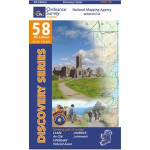 OSI 58 Clare, Limerick, Tipperary Wanderkarte 1:50.000