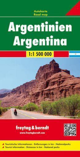 Argentinien, Straßenkarte 1:1.500.000, Freytag und Berndt