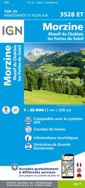 IGN 3528 ET Morzine, Portes du Soleil, Frankreich Wanderkarte 1:25.000