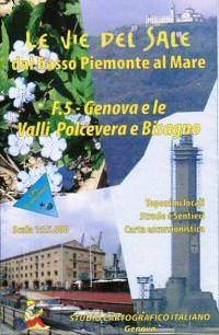 Ligurien Wanderkarte: F.5 Genova e le Valli Polcevera e Bisagno 1:25.000