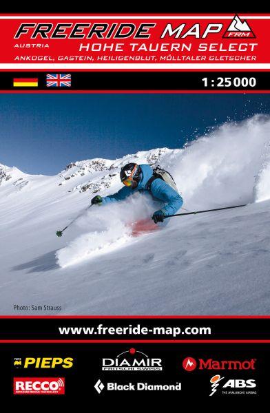 Freeride Map Hohe Tauern Select, Skitourenkarte 1:25.000