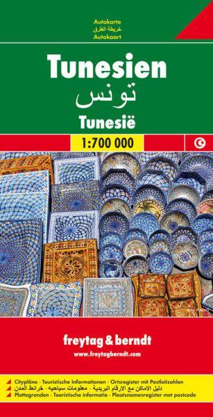Tunesien, Straßenkarte 1:700.000, Freytag und Berndt