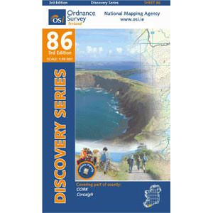 OSI 86 Cork, Corcaigh Wanderkarte 1:50.000 - Ordnance Survey Ireland