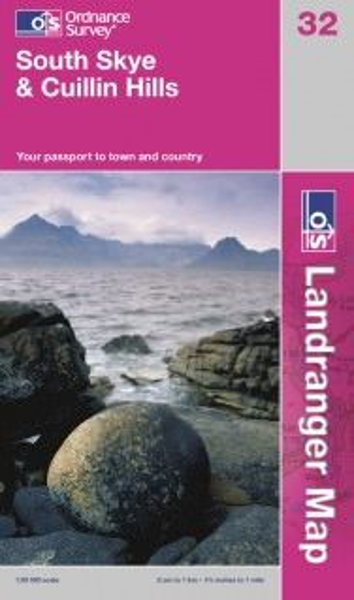 Landranger 32 South Skye & Cuillin Hills Wanderkarte 1:50.000 - OS / Ordnance Survey