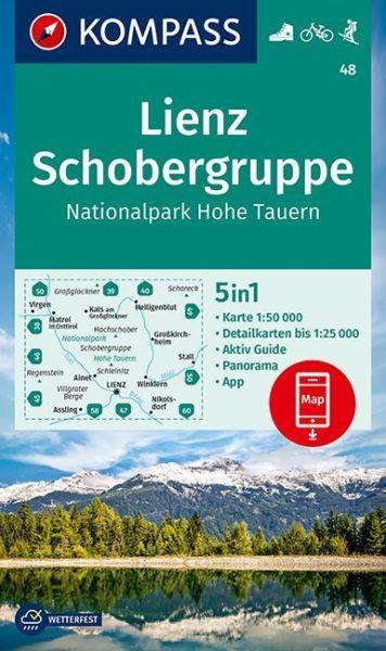 Kompass Karte 48, Lienz, Schobergruppe 1:50.000, Wandern, Rad fahren