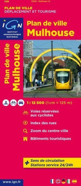 IGN Stadtplan Mulhouse, 1:12.500