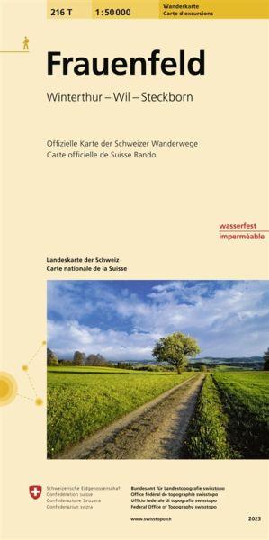 216 T Frauenfeld Wanderkarte 1:50.000 - Swisstopo