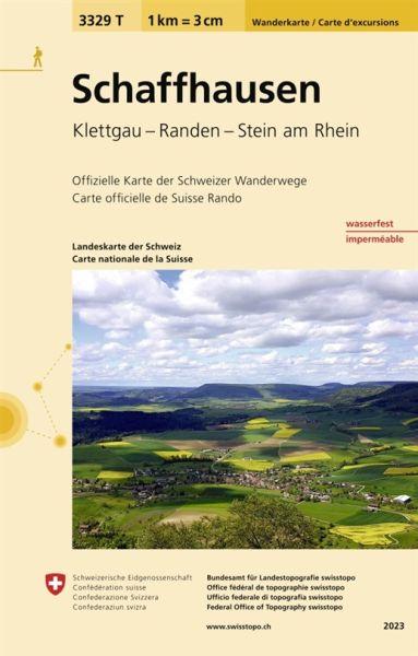 3329 T Schaffhausen Wanderkarte 1:33.333 wetterfest - Swisstopo