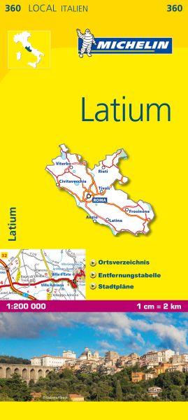 Michelin 360 Latium Straßenkarte 1:200.000