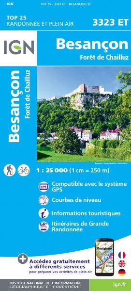 IGN 3323 ET Besançon / Forêt de Chailluz, Frankreich Wanderkarte 1:25.000