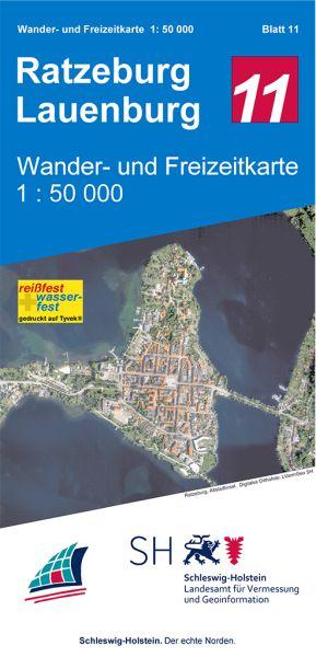 Blatt 12 Ratzeburg - Lauenburg Wander- und Freizeitkarte 1:50.000