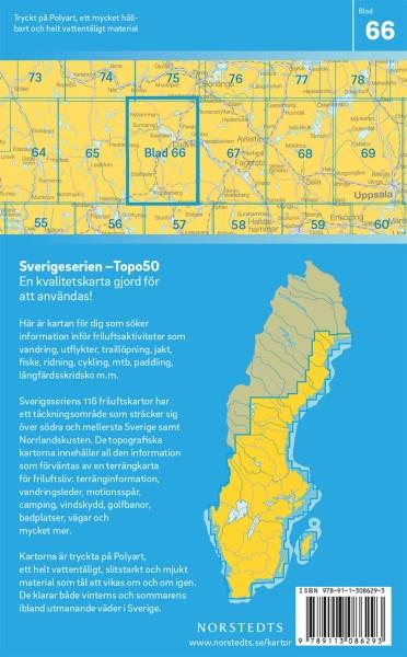 Ludvika Wanderkarte 1:50.000, Schweden Topo50 Blatt 66