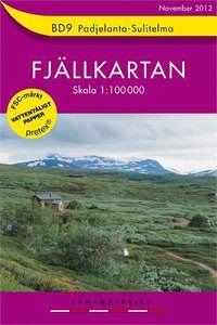 Fjällkartan BD9 Schweden Trekking- und Wintersportkarte 1:100.000