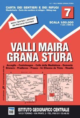 IGC 7 - Wanderkarte für Valli Maira - Grana Stura 1:50.000