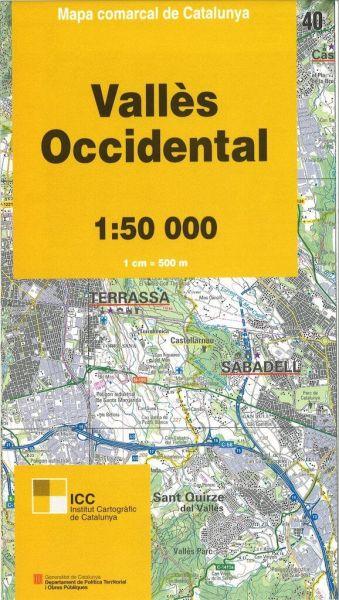 Valles Occidental, Katalonien topographische Karte, 1:50.000, ICC 40