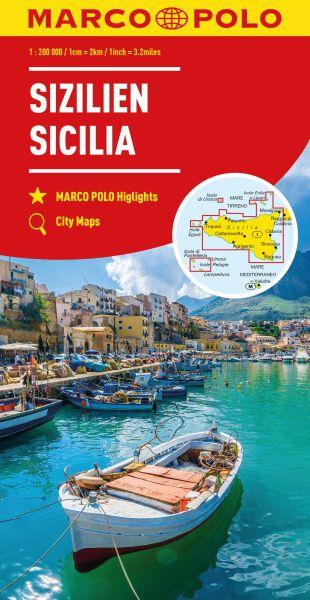 Sizilien Straßenkarte 1:200.000, Marco Polo Italien Blatt 14
