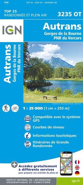 IGN 3235 OT Autrans-Gorges de la Bourne / PNR du Vercors, Frankreich Wanderkarte 1:25.000