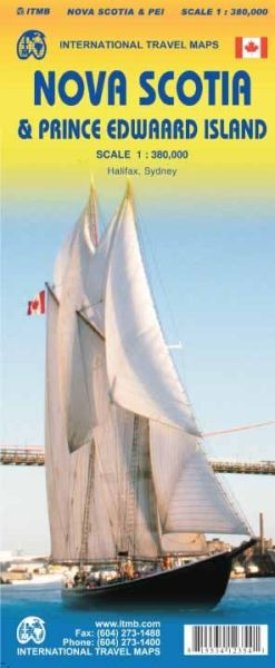 Nova Scotia & Prince Edward Island 1:380.000, ITM