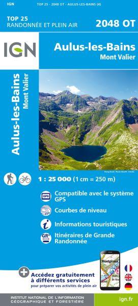 IGN 2048 OT Aulus-les-Bains / Mont Valier, Frankreich Wanderkarte 1:25.000