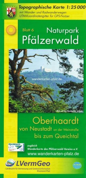 Naturpark Pfälzerwald NP6: Oberhaardt Wanderkarte 1:25.000