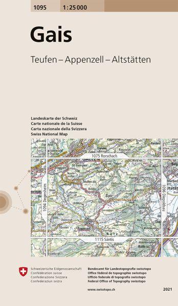 1095 Gais topographische Karte Schweiz 1:25.000