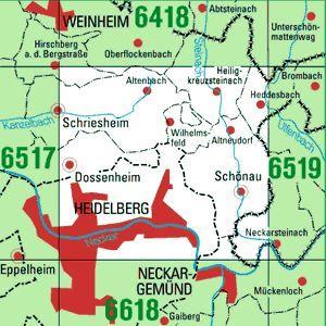 6518 HEIDELBERG-NORD topographische Karte 1:25.000 Baden-Württemberg, TK25