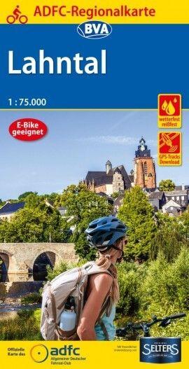 ADFC-Regionalkarte, Lahntal, Radwanderkarte