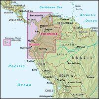 Nelles Maps, Kolumbien / Ecuador 1:2.500.000, wasser- und reißfest