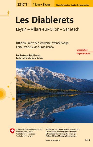 3317 T Les Diablerets Wanderkarte Schweiz 1:33.333 wetterfest - Swisstopo