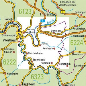 6223 WERTHEIM topographische Karte 1:25.000 Baden-Württemberg, TK25