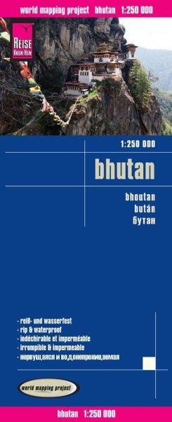 Bhutan Landkarte 1:250.000, Reise Know-How