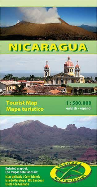 Mapas Na Turismo: Nicaragua Landkarte 1:500.000