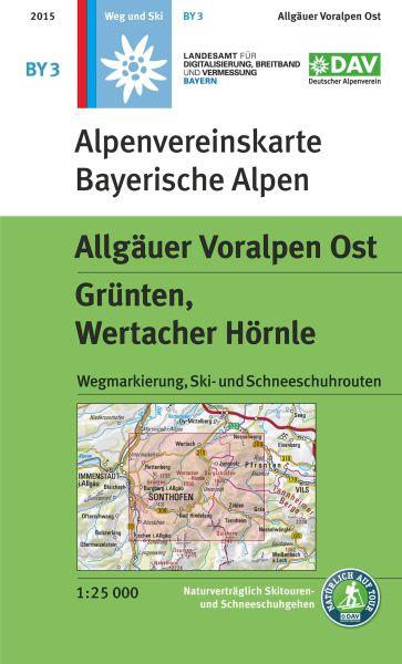 Alpenvereinskarte BY3 Allgäuer Voralpen Ost Wanderkarte 1:25.000