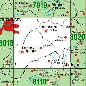 8019 NEUHAUSEN OB ECK topographische Karte 1:25.000 Baden-Württemberg, TK25