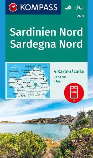 Kompass Karte 2497 Sardinien Nord Wander- und Radkarte 1:50.000