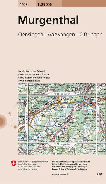 1108 Murgenthal topographische Karte Schweiz 1:25.000