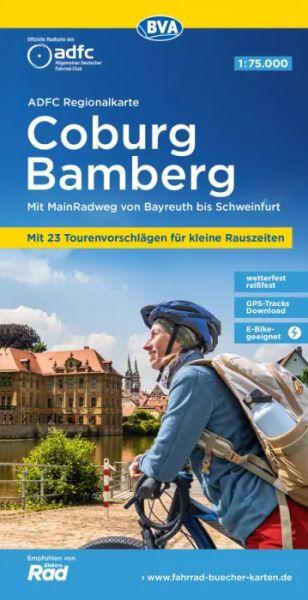 ADFC-Regionalkarte, Coburg, Oberes Maintal Radwanderkarte 1:75.000