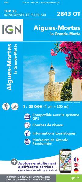 IGN 2843 OT Aigues-Mortes, La Grande Motte, Frankreich Wanderkarte 1:25.000