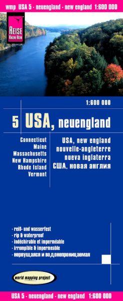 USA 5 Neuengland Landkarte 1:600.000, Reise Know-How