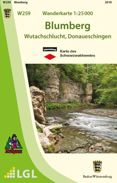 Blumberg W259, Wanderkarte 1:25.000, Schwarzwaldverein
