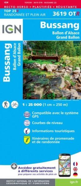 IGN 3619 OTR Bussang-La Bresse / PNR Ballons des Vosges, reiß- und wasserfeste Wanderkarte