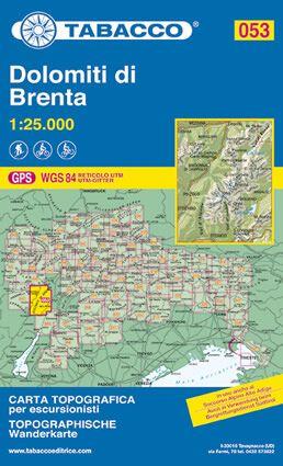 Tabacco 053 Dolomiti di Brenta Wanderkarte 1:25.000
