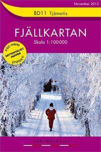 Fjällkartan BD11 Schweden Trekking- und Wintersportkarte 1:100.000