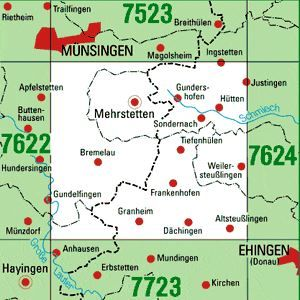 7623 MEHRSTETTEN topographische Karte 1:25.000 Baden-Württemberg, TK25