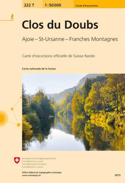 222 T Clos du Doubs Wanderkarte 1:50.000 - Swisstopo