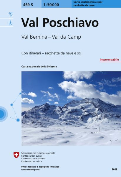 469 S Val Poschiavo topographische Skitourenkarte 1:50.000