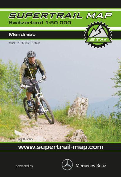 Supertrail Map Mendrisio Mountainbike-Karte, Bike-Karte 1:50.000