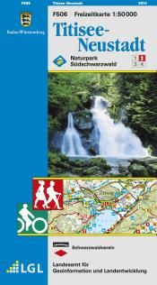 Titisee-Neustadt Freizeitkarte in 1:50.000 - F506 mit Rad- und Wanderwegen
