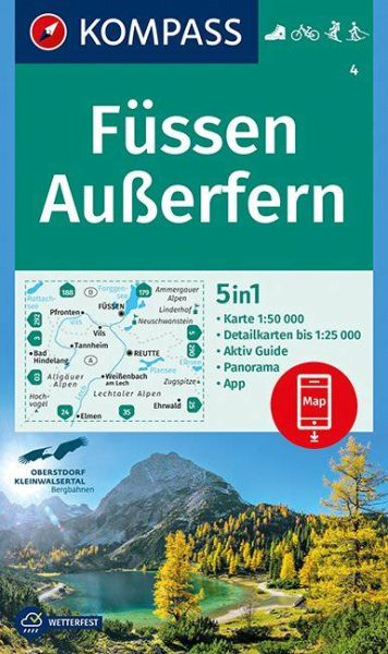 Kompass Karte 4 Fussen Ausserfern Wanderkarte Radkarte